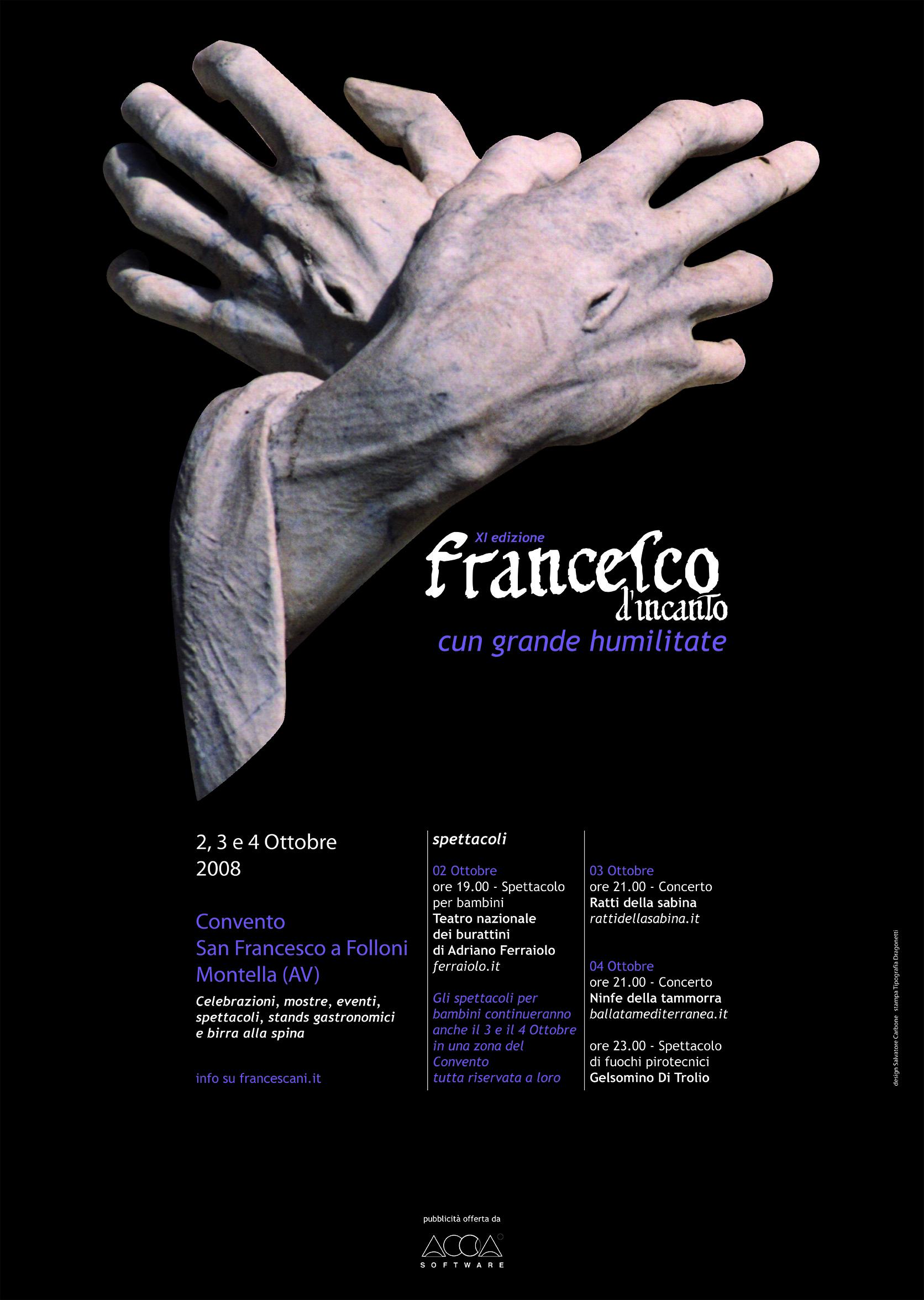 Francesco D'Incanto Locandina 2008