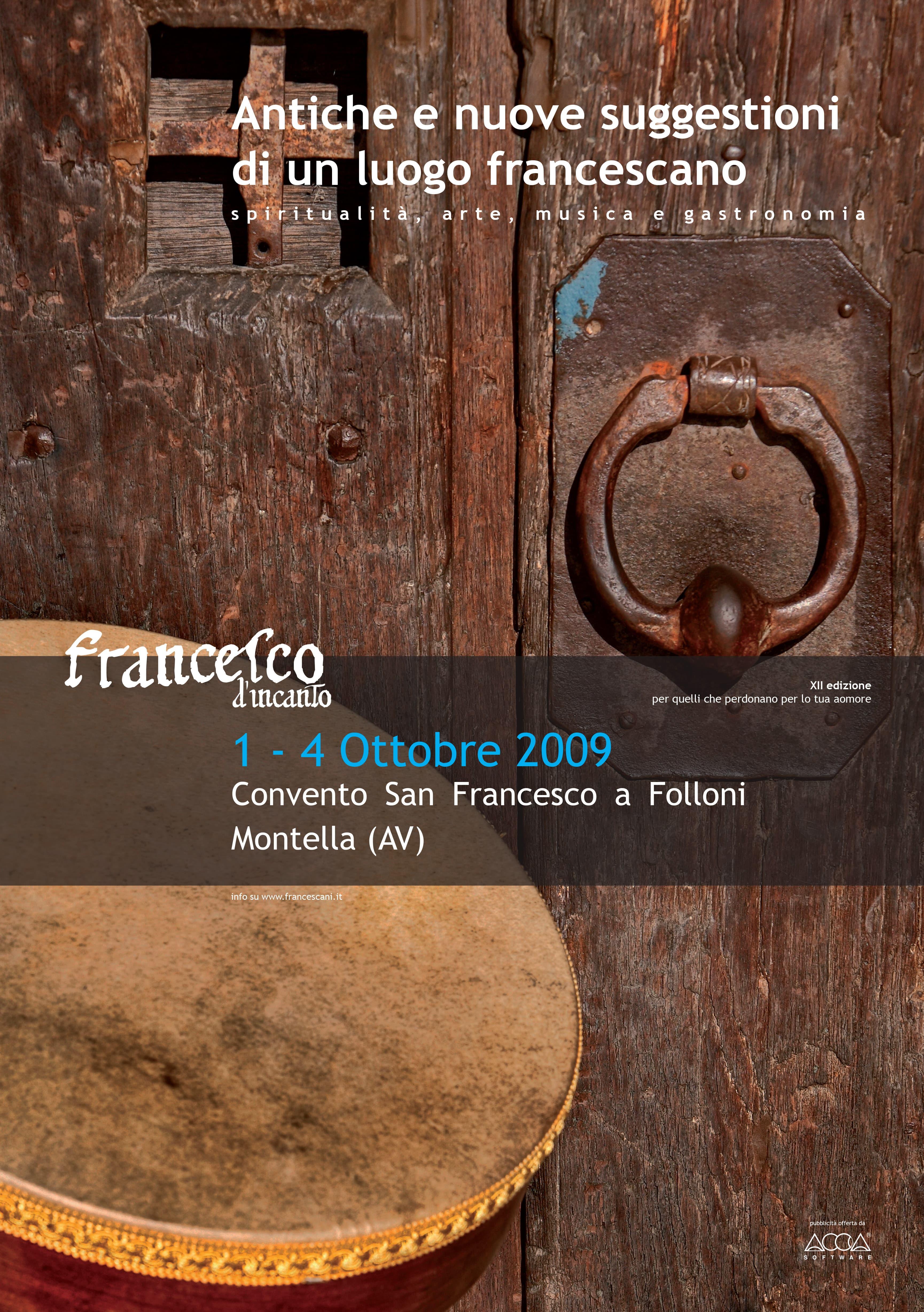 Francesco D'Incanto Locandina 2009B