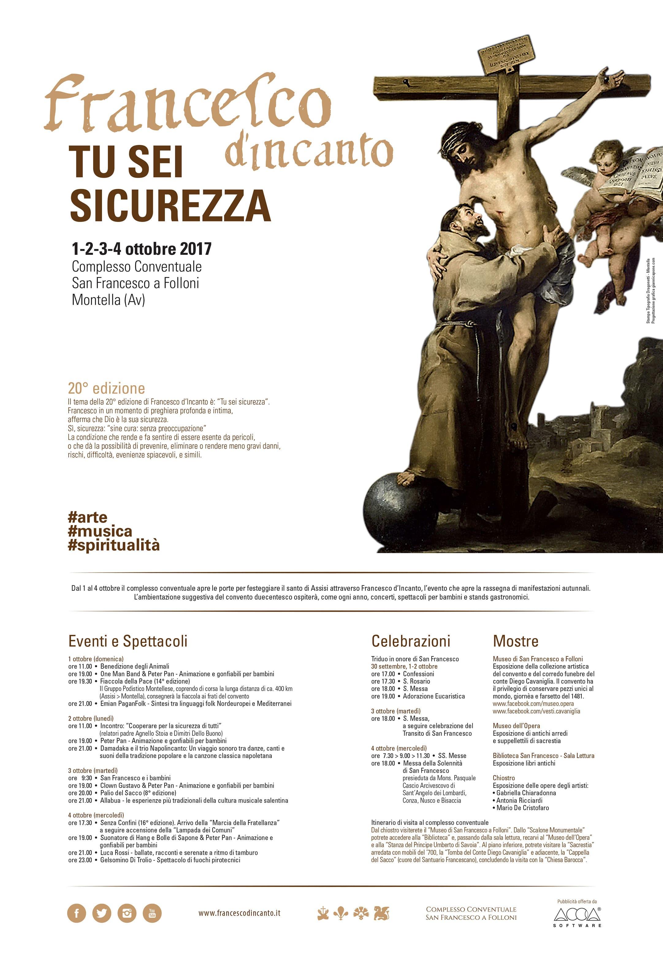 Francesco D'Incanto Locandina 2017